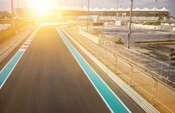 The Yas Marina Grand Prix Circuit on January 05, 2017 in Abu Dhabi, United Arab Emirates stock image