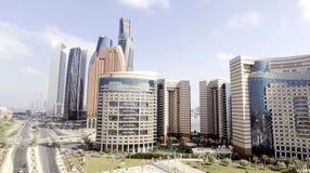 Abu Dhabi, UAE Luftstadtansicht von Corniche-Straße Stockbilder