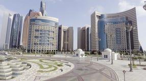 Abu Dhabi, UAE Luftstadtansicht von Corniche-Straße Lizenzfreies Stockbild