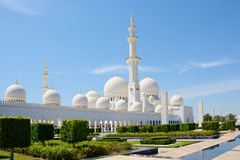 ABU DHABI, UAE - 26. MÄRZ 2016: Sheikh Zayed Mosque Lizenzfreies Stockfoto