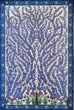 ABU DHABI, UAE - MARCH 11 2019:Art color mosaic inside Sheikh Zayed Mosque. Abu Dhabi, United Arab Emirates. royalty free stock image