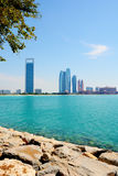 ABU DHABI UAE - MARS 26, 2016: Abu Dhabi Royaltyfria Foton