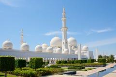 ABU DHABI UAE - MARS 26, 2016: Sheikh Zayed Mosque Royaltyfri Foto