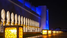 Sheikh Zayed Grand Mosque in Abu Dhabi, United Arab Emirates Stock Photography