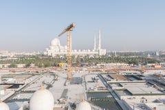 Abu Dhabi, UAE - 2016: Neue Erweiterung Sheikh Zayed Grand Mosques Stockfotografie