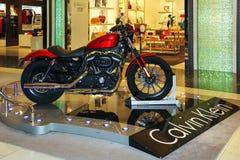 ABU DHABI UAE, NOVEMBER 12 2014: Harley Davidson på den internationella flygplatsen i Abu Dhabi Royaltyfri Fotografi