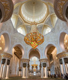 ABU DHABI, UAE, October 4, 2014: Sheikh Zayed Grand Mosque Inter Royalty Free Stock Photos