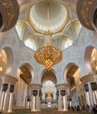 ABU DHABI, UAE, October 4, 2014: Sheikh Zayed Grand Mosque Inter Royalty Free Stock Photos