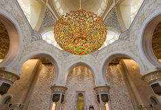 ABU DHABI, UAE – October 4, 2014: Sheikh Zayed Grand Mosque In Stock Photos