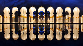 Abu Dhabi, UAE -Shaikh Zayed Mosque stock image