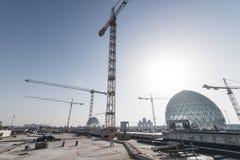 Abu Dhabi, UAE - 2016: Sheikh Zayed Uroczysty Meczetowy nowy rozszerzenie Obraz Stock