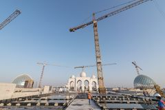 Abu Dhabi, UAE - 2016: Sheikh Zayed Uroczysty Meczetowy nowy rozszerzenie Fotografia Royalty Free