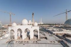 Abu Dhabi, UAE - 2016: Sheikh Zayed Uroczysty Meczetowy nowy rozszerzenie Zdjęcia Stock