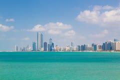Abu Dhabi-Ufergegend, Vereinigte Arabische Emirate Stockbild