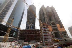 Contruction in Abu Dhabi Royalty Free Stock Image
