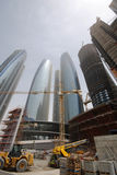 Contruction in Abu Dhabi Royalty Free Stock Images