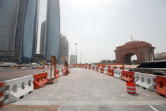 Road contruction in Abu Dhabi Stock Images