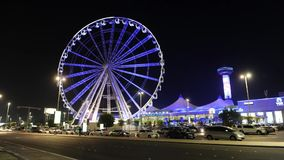 Ferris wheel in Abu Dhabi stock video