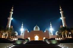 Abu Dhabi Uroczysty meczet Obrazy Royalty Free
