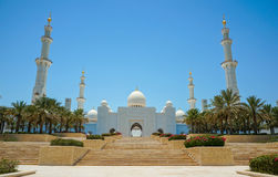 abu dhabi uroczysty meczet Zdjęcie Royalty Free
