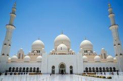 abu dhabi uroczysty meczet Zdjęcia Stock