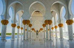 abu dhabi uroczysty meczet Zdjęcia Royalty Free