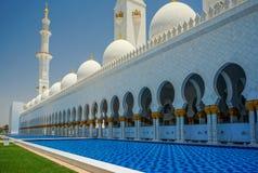 abu dhabi uroczysty meczet Obraz Stock