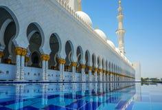 abu dhabi uroczysty meczet Obrazy Stock