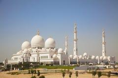 abu dhabi uroczysty meczet uae Obrazy Royalty Free