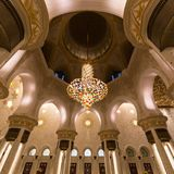 abu dhabi uroczysty meczetowy sheikh uae zayed Zdjęcie Royalty Free