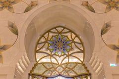 abu dhabi uroczysty meczetowy sheikh uae zayed Zdjęcie Stock