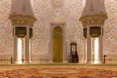 abu dhabi uroczysty meczetowy sheikh uae zayed Obrazy Stock
