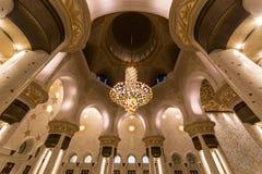 abu dhabi uroczysty meczetowy sheikh uae zayed Obraz Stock