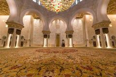 abu dhabi uroczysty meczetowy sheikh uae zayed Obraz Royalty Free