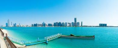 Abu Dhabi van de binnenstad Stock Foto's