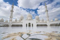 Abu Dhabi, Vereinigte Arabische Emirate, am 4. Januar 2018: Ansicht von Stockfoto