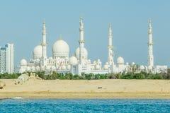 Abu Dhabi, Vereinigte Arabische Emirate, am 21. Mai 2017: Ansicht von Sheikh Zayed Grand Mosque, Lizenzfreie Stockbilder
