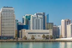 Abu Dhabi, Vereinigte Arabische Emirate, am 27. Oktober 2017: Stadtbild Lizenzfreie Stockfotos