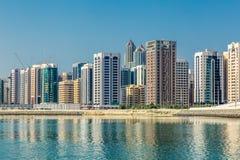 Abu Dhabi, Vereinigte Arabische Emirate, am 27. Oktober 2017: Stadtbild Stockbild