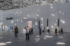 Abu Dhabi, Verenigde Arabische Emiraten, 5 December, 2017: Het Louvre royalty-vrije stock afbeelding