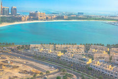 Abu Dhabi-Vogelperspektive Lizenzfreies Stockbild