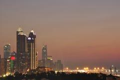 Abu Dhabi Western-Himmel Lizenzfreie Stockbilder