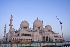 abu dhabi wielkiego meczetu Zdjęcia Stock