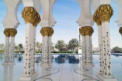 abu dhabi wielkiego meczetu Obraz Royalty Free