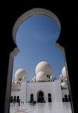 abu dhabi wielkiego meczetu Obrazy Stock
