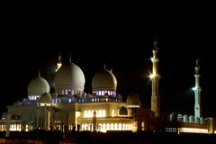 Abu Dhabi Zayed Grand Mosque night Stock Photo