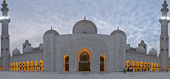 Abu Dhabi Zayed Mosque Stock Photography