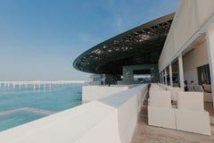 Abu Dhabi, Zjednoczone Emiraty Arabskie, STYCZEŃ 06, 2019, wnętrze louvre muzeum, Abu Dhabi, wizerunek fotografia royalty free