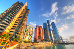Abu Dhabiat sunrise, UAE Stock Photo