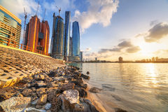 Abu Dhabiat sunrise, UAE Stock Photography